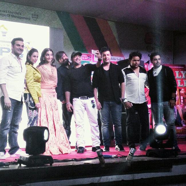 Sonam Kapoor, Arbaaz Khan, Sajid-Wajid at Dolly Ki Doli promotions
